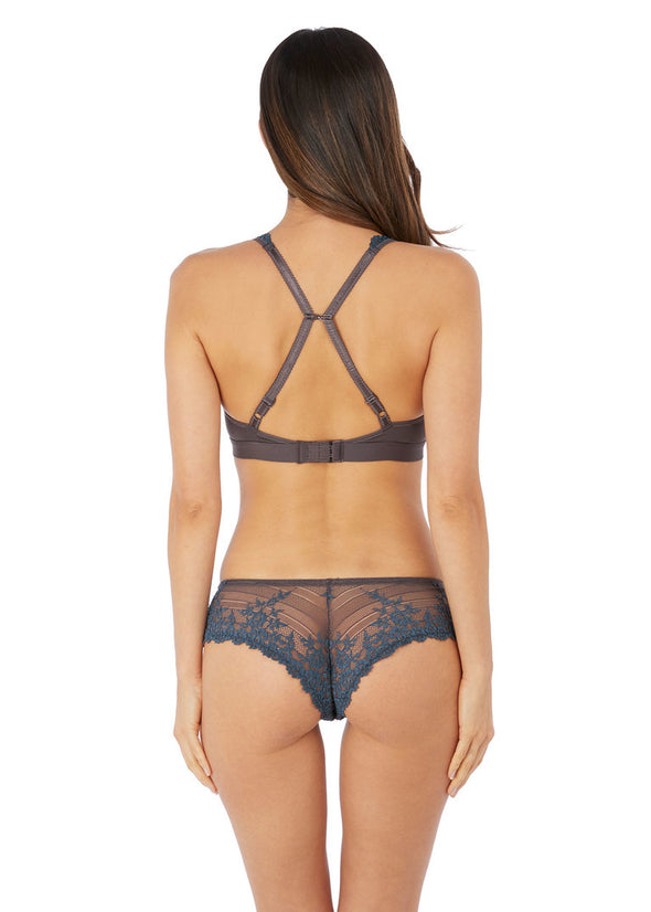 Wacoal Embrace Lace Nine Iron / Ensign Blue Soft Cup Bra