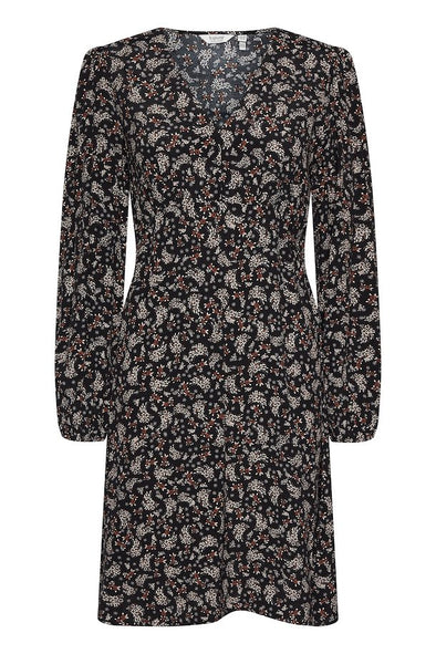 B Young Flaminia Black Print Dress