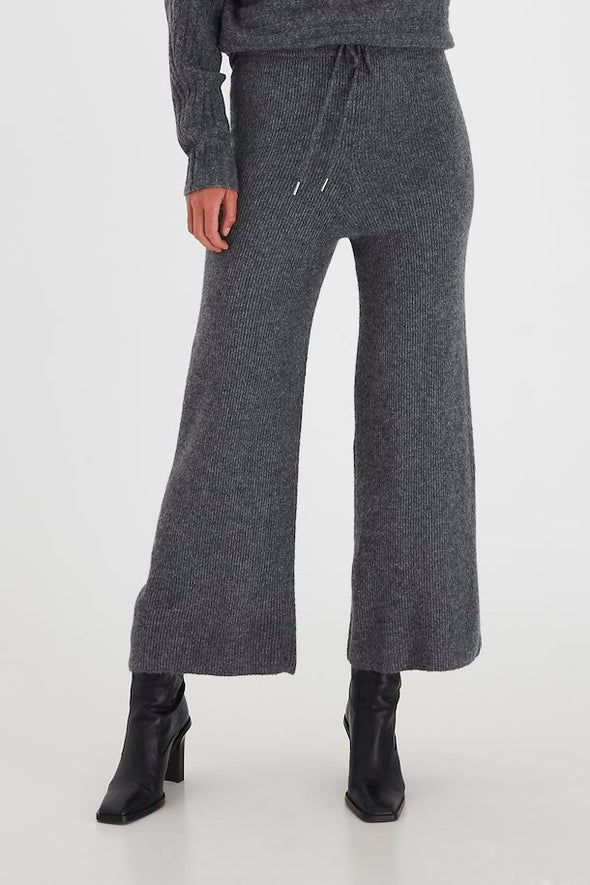 B Young Makine Dark Grey Casual Trousers