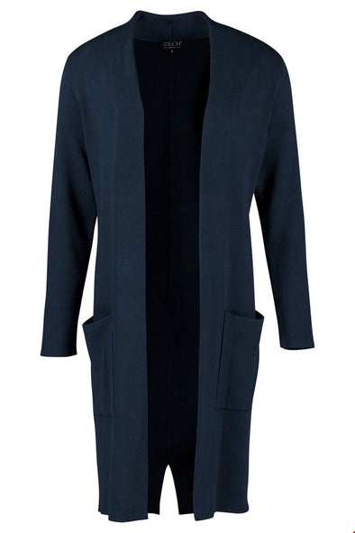 Zilch Navy Long Cardigan