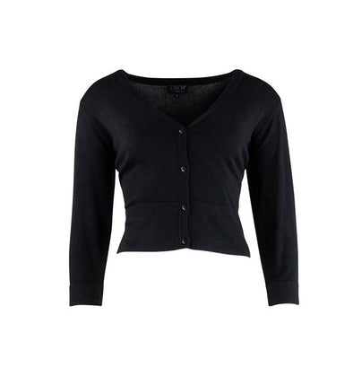 Zilch short cardigan in black