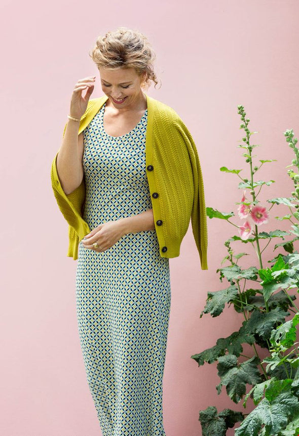 Zilch Lime V-neck Cardigan
