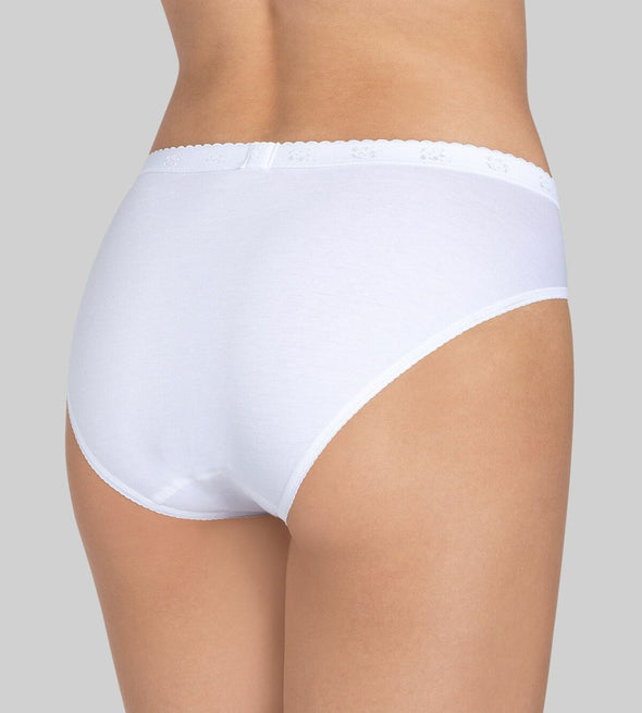 Sloggi Chic White Tai Briefs 4 Pack