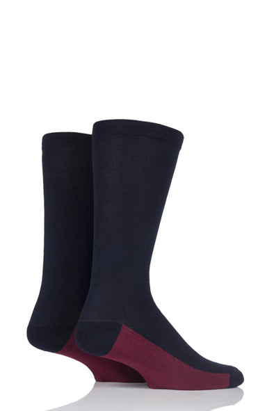 2 Pair Sockshop Navy Half Cushioned Gentle Bamboo Socks