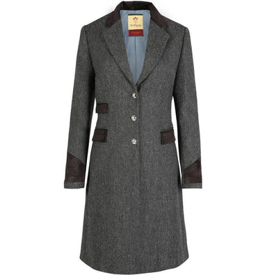 Welligogs Demelza Slate Tweed Coat