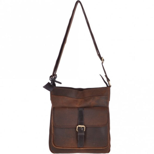Ashwood Leather Oxford Doug Tornado Brown Body Bag