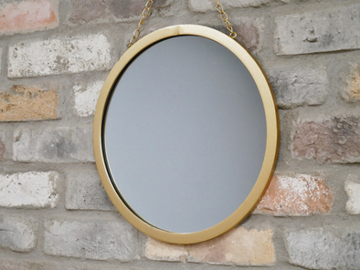 Dutch Imports Gold Mirror On Chain