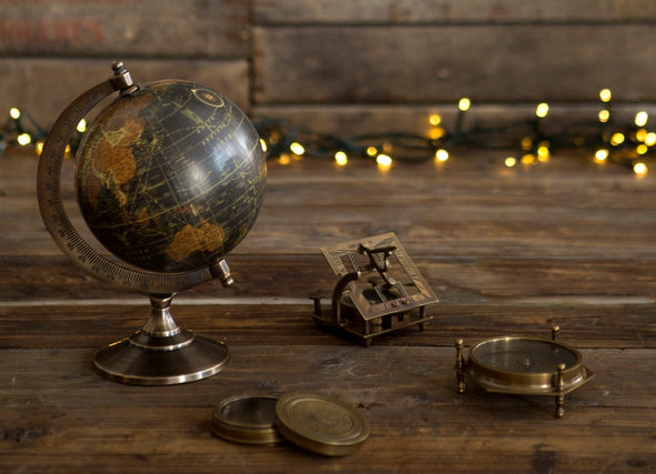 London Ornaments Brass Antique Globe