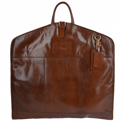 Ashwood Leather Harper Chestnut Folded Suit Carrier