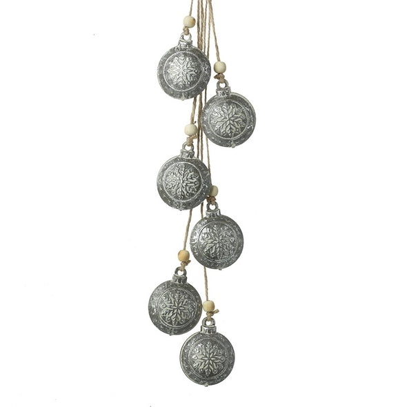 Heavens Sends Silver Bauble Bunch Decoration