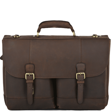 Ashwood Leather Hammersmith Henry Mud Single Gusset Briefcase