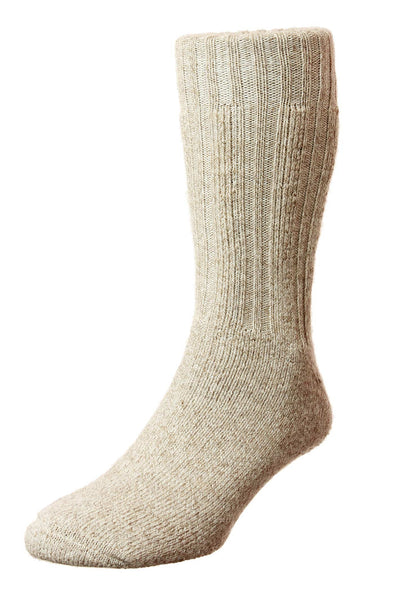 HJ Hall Beige Marl Merino Wool Boot Socks HJ213