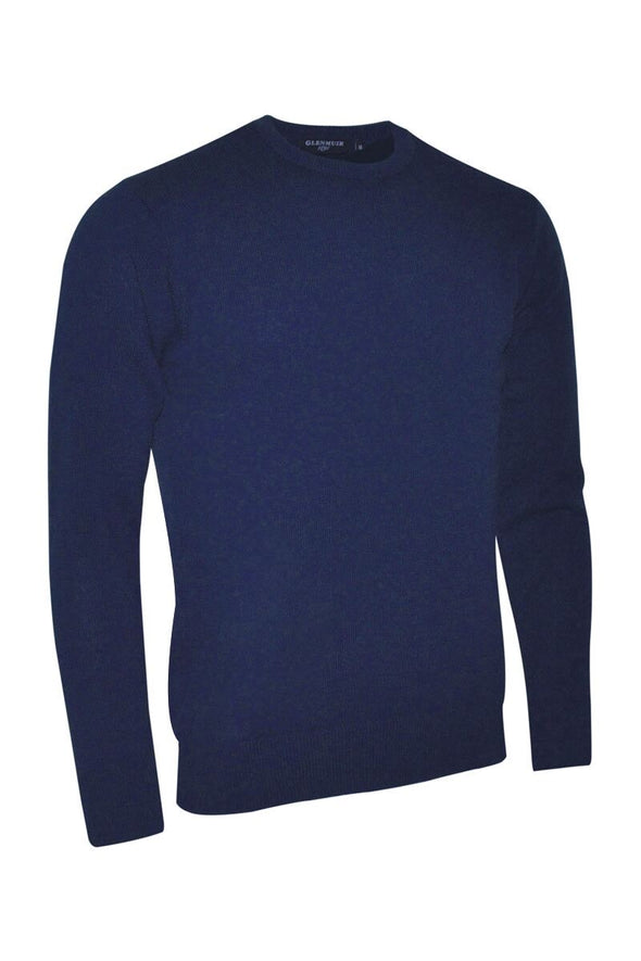 Glenmuir Lambswool Navy Crew Neck Jumper
