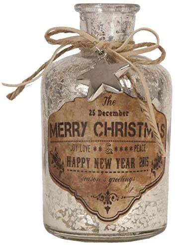 Clayre & Eef Merry Christmas Bottle