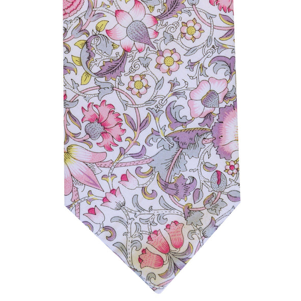 LA Smith Pink Tie Made with Liberty Fabric