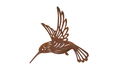 London Ornaments Rusty Hummingbird Wall Hanging Plaque Garden Decoration