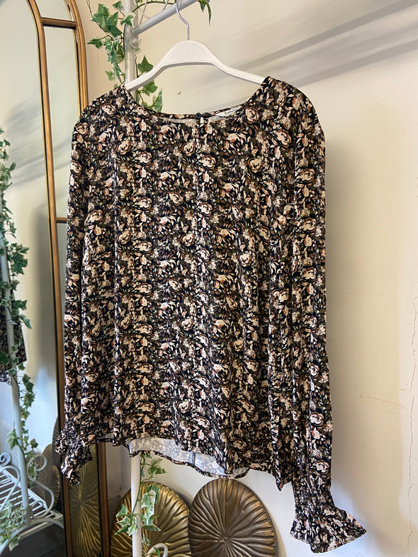 B Young Gem Olive Blouse