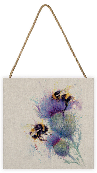 The Art Group Bee on Thistle Canvas