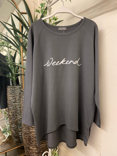 Chalk Robyn Charcoal 'Weekend' Top