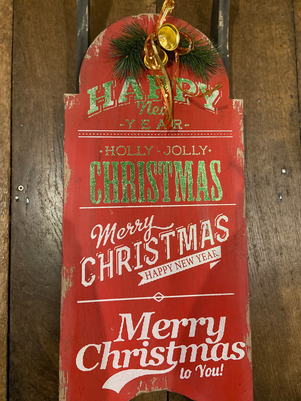 Heaven sends vintage Christmas sledge