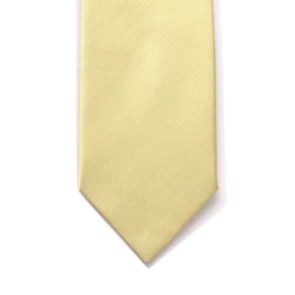 LA Smith Yellow Plain Silk Twill Tie