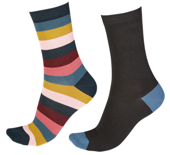 Pretty Polly Wide Stripe Ladies Bamboo Socks