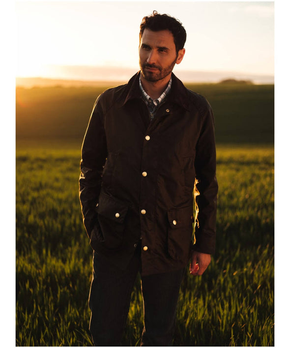 Barbour Hopsack Wax Forest Jacket