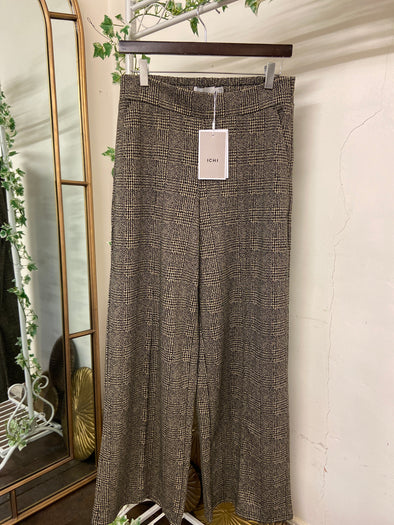 Ichi Kate Grid Wide Trousers