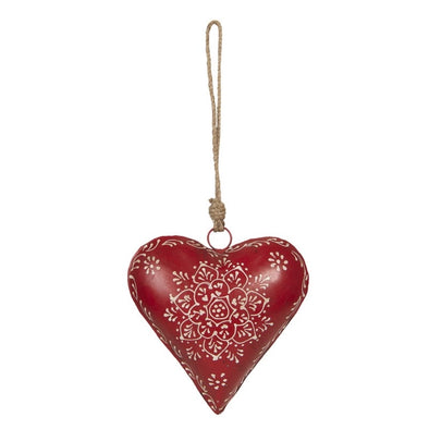 Clayre & Eef Christmas Red Heart