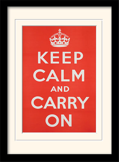 The Art Group 'Keep Calm And Carry On' Framed Print