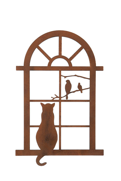 London Ornaments Small Cat in Window Wall Hanging Plaque Garden Decoration