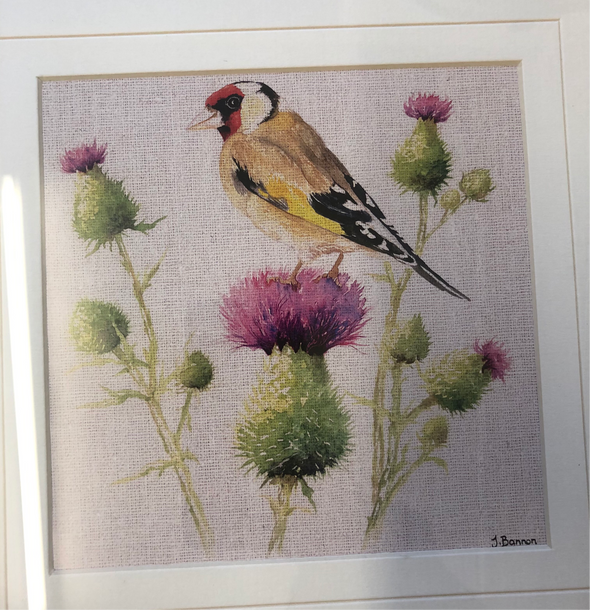 The Art Group Bird On A Thistle Framed Picture