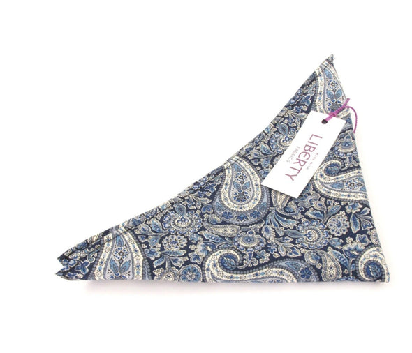 Van Buck Lee Manor Cotton Pocket Square Made with Liberty Fabric