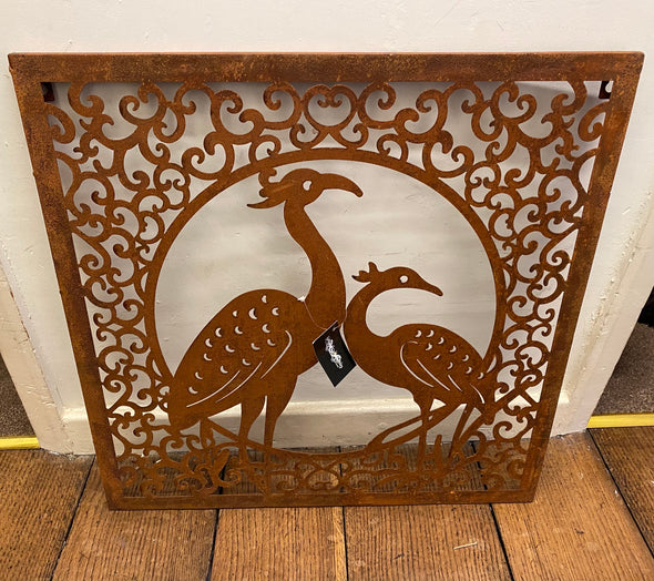 London Ornaments Rusty Wall Plaque Birds
