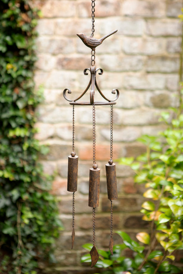 London Ornaments Metal Bird Triple Windchime