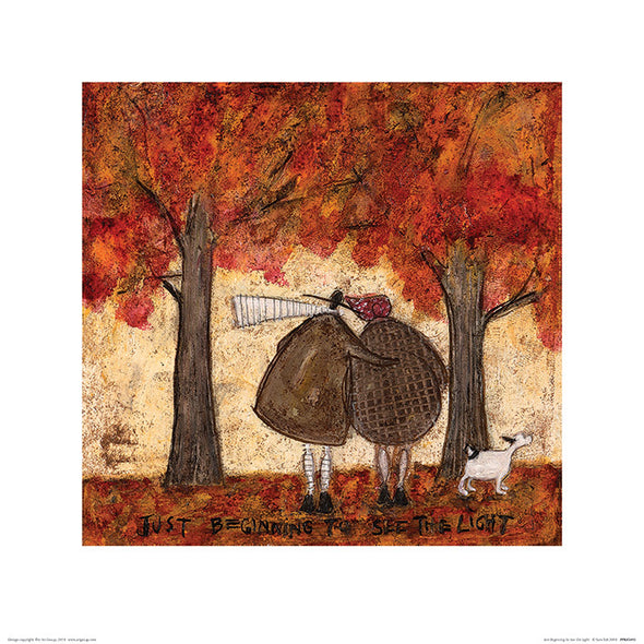 Sam Toft 'Just Beginning To See The Light' Print without frame