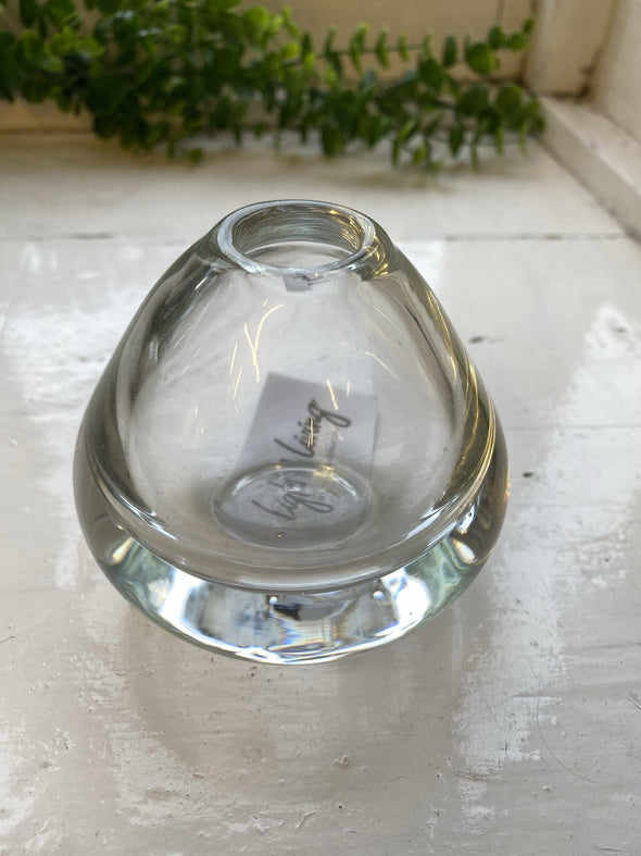 Light and Living Clear Paperweight/Single Flower vase 2