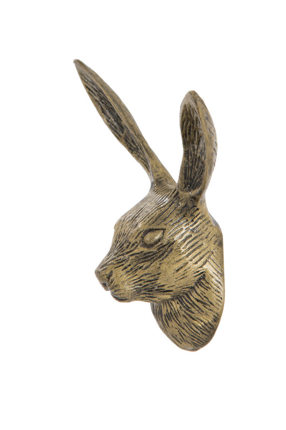 London Ornaments Metal Golden Hare Hook