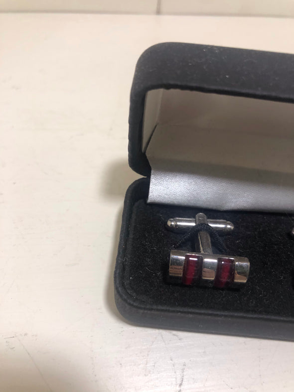 Sophos Red and Silver Cufflinks