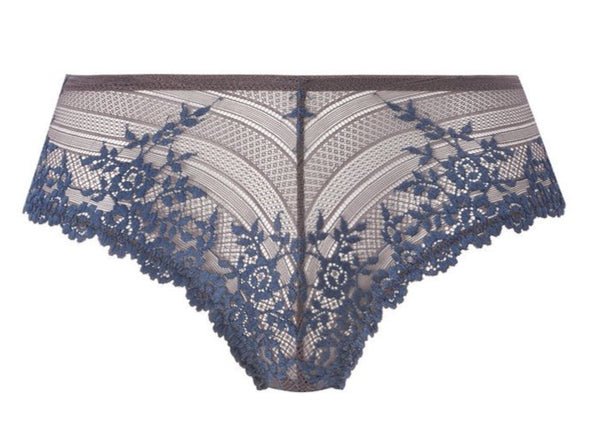 Wacoal Embrace Lace Nine Iron / Ensign Blue Tanga