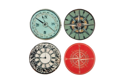 London Ornaments Ceramic Compass Coasters Set of 4