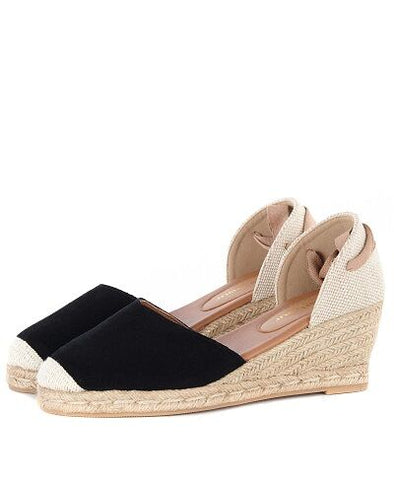 Barbour Amara Black Espadrilles