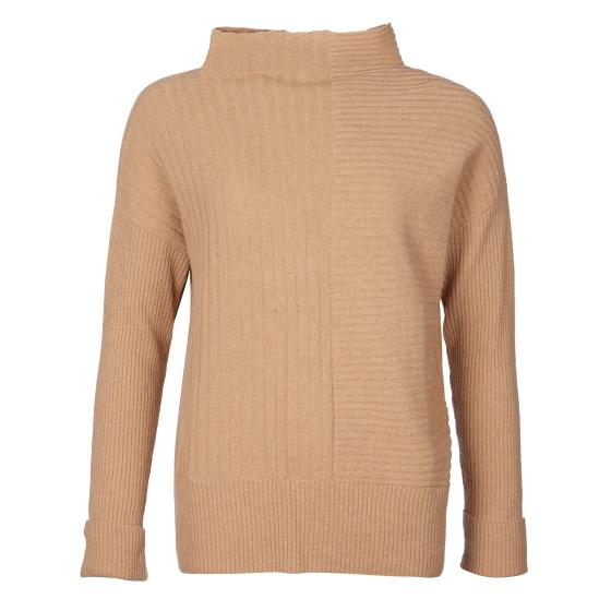 Barbour Lossie Funnel Neck Knit Camel