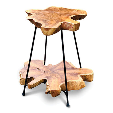 Makasi Root Industrial Two tier table