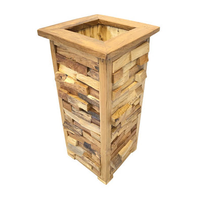 Makasi Root Rustic Umbrella Stand Square