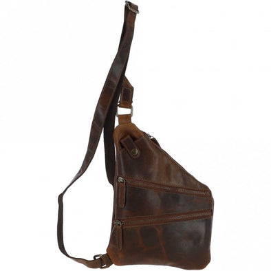 Ashwood Marc Sling Bag in Copper Brown