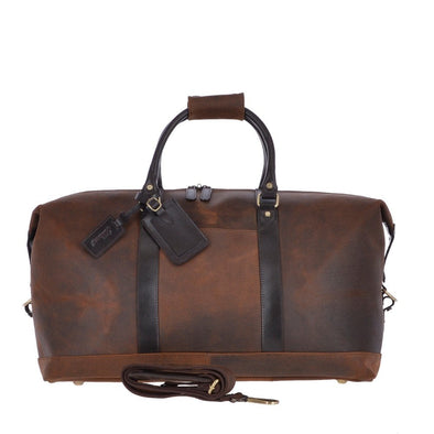 Ashwood Leather Oxford Marcus Tornado Brown Weekend Holdall