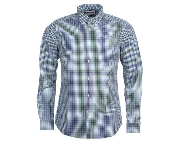 Barbour Gingham 16 Green Tailored Shirt