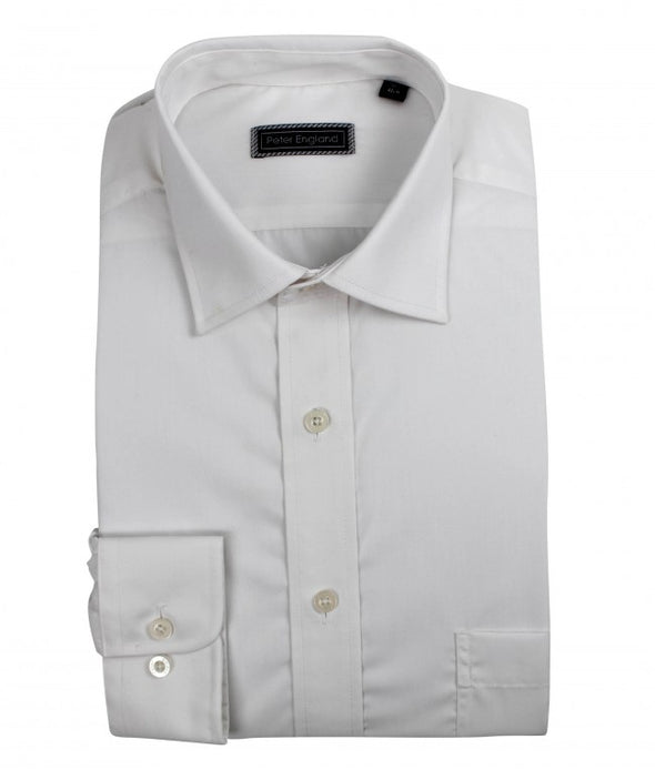 Peter England Standard Fit Non Iron Plain Shirt in White