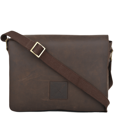 Ashwood Leather Hammersmith Pedro Mud Messenger Bag
